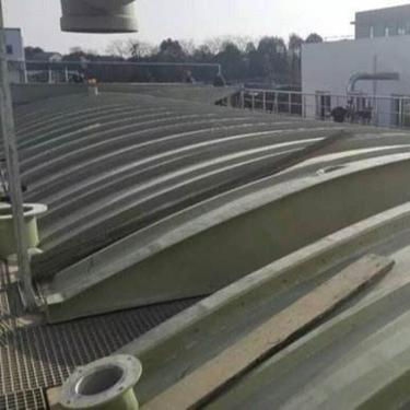 河北运兴专业生产玻璃钢盖板污水池罩棚格栅玻璃钢管道