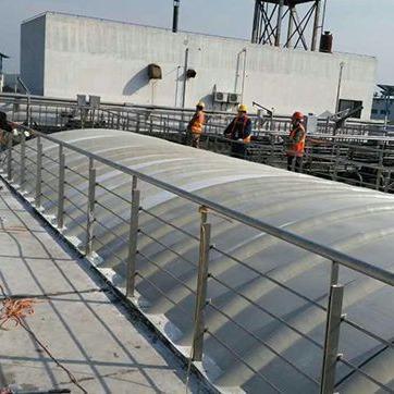河北运兴专业生产安装玻璃钢盖板、污水池罩棚、格栅、玻璃钢管道