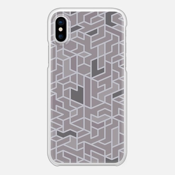 Black White and Grey Geometry Polygonal Pattern Geometric Design iPhone X 保护