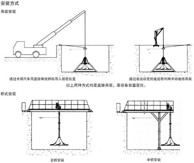 南京兰江QSJ双曲面潜水搅拌机 立式涡轮搅拌器示例图3