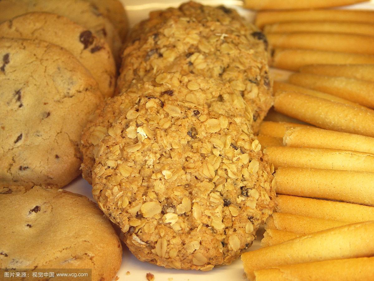 饼干,面包店,零售展示,水平画幅,无人,巧克力脆片,巧克力,小吃,葡萄干,麦片
