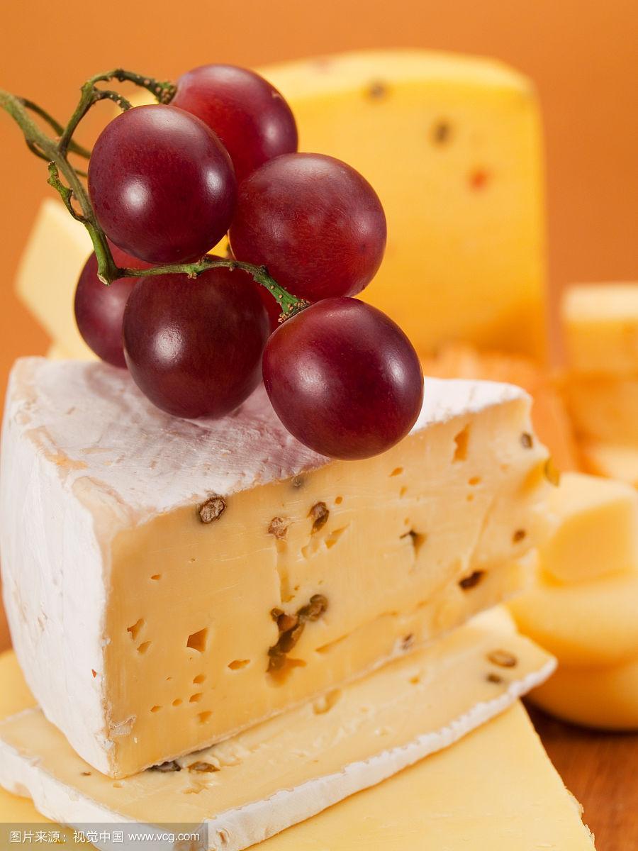 奶酪,科尔比切达干酪,瑞士硬干酪,布里白乳酪,软乳酪,垂直画幅,选择对焦,褐色,无人,法