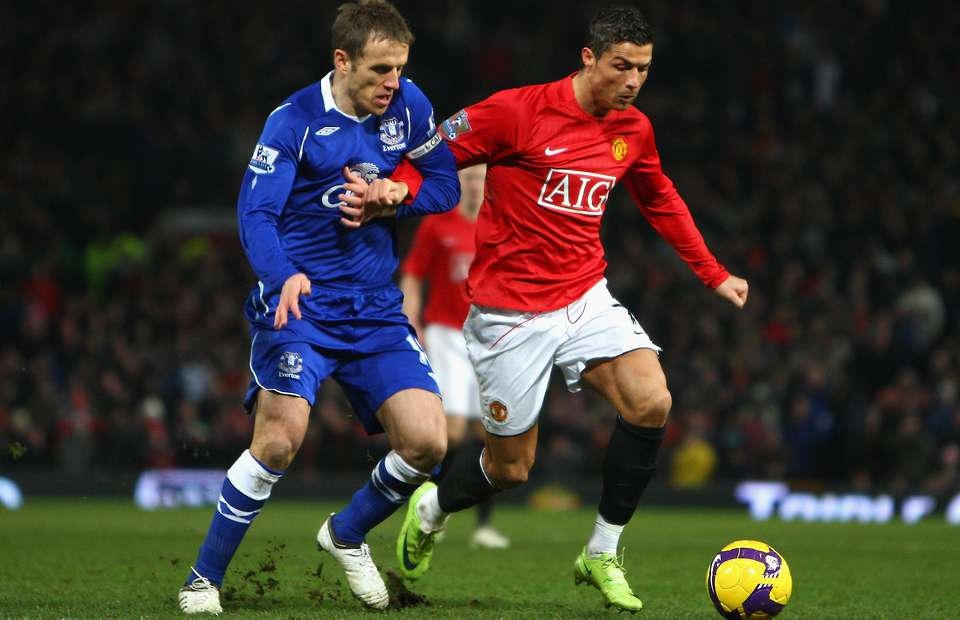 Phil Neville tweets about the time he wiped out Cristiano Ronaldo in 2008