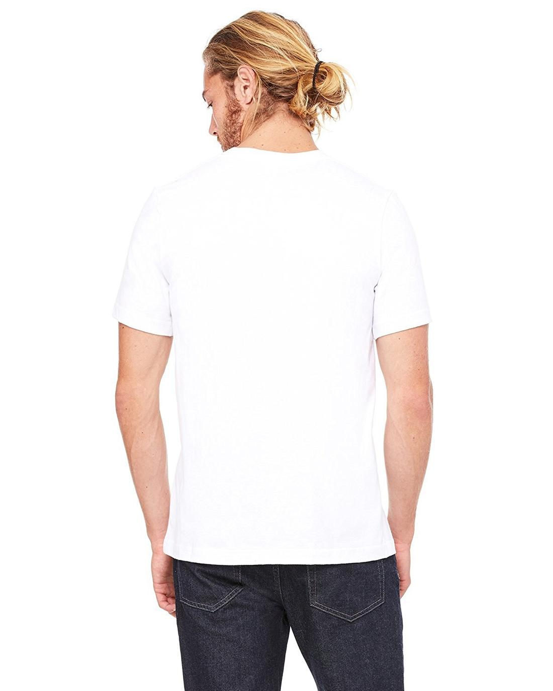 Bella Canvas Unisex Made in the USA Heavyweight 5.5 oz. Crew T-Shirt - WHITE -